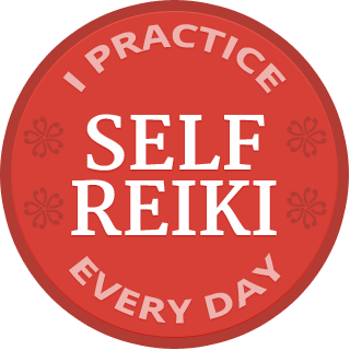 I practice self reiki badge